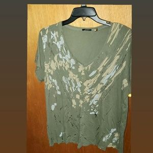 Camo inspired t-shirt with gold accents